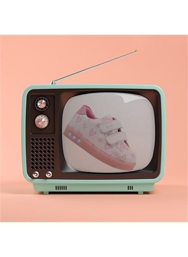 Kids A More Heartag Çift Cırtlı Işıklı n Pu Deri Kız Çocuk Ayakkabı  Pembe